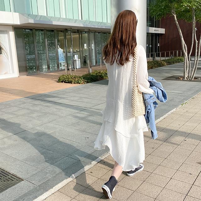 【4/7(wed)19:00〜】フリルデザインワンピース[2582E]