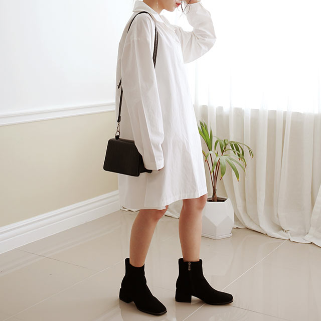 shirt mini onepiece[2583E]