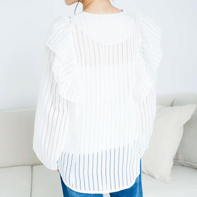 シースルーストライプシャツ(全2色)[258C]