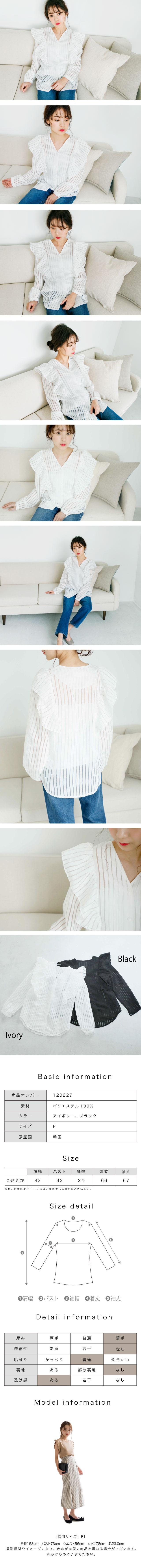 【4/17(火)19:00販売開始】シースルーストライプシャツ(全2色)[258C]
