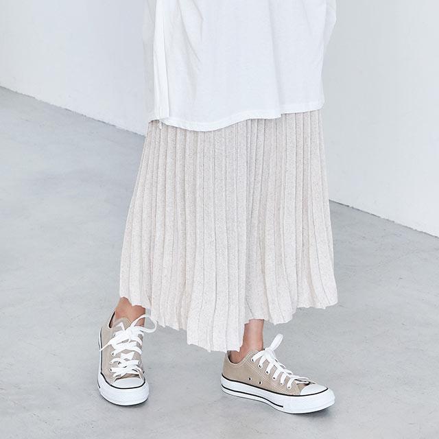 プリーツニットスカート(全2色)[2592M]
