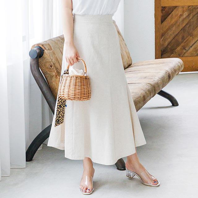 カラーリネンマーメイドスカート(全2色)[2594M]