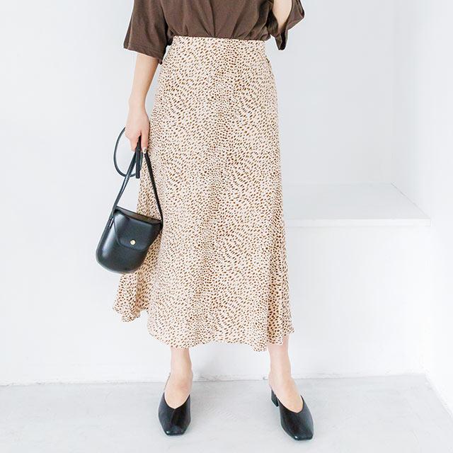 レオパード風スカート(全3色)[2596M]