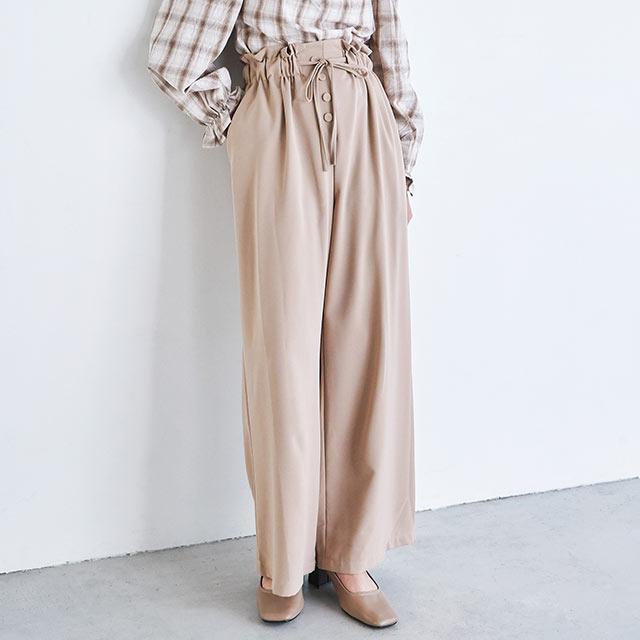 kurumi button waist wrap pants[2617M]