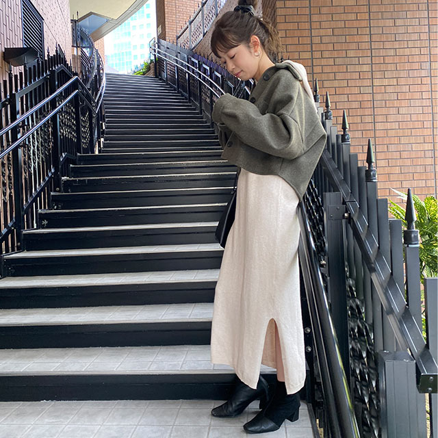 ≪店内全品ポイント7倍!!≫【12/9(wed)19:00〜】hoodie knit onepiece[2624E]