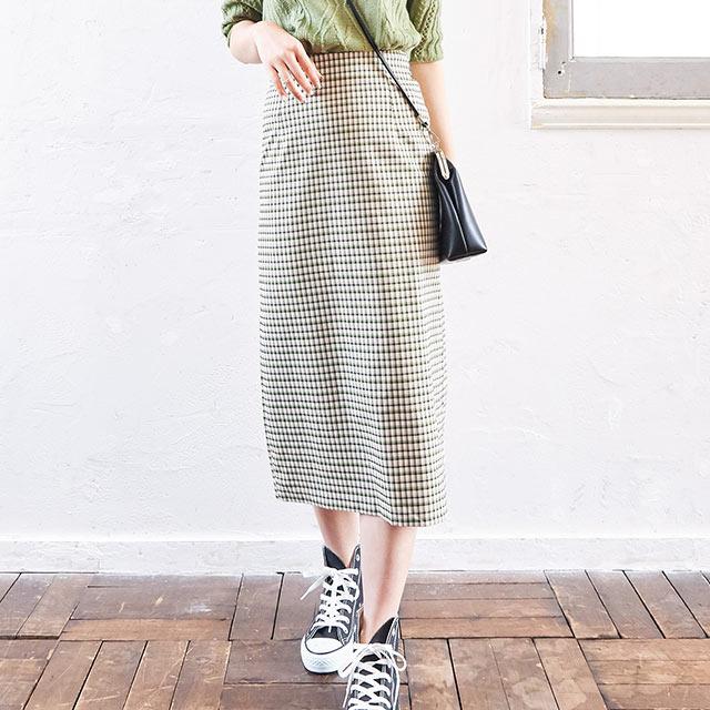 **rinko select**check tight skirt[2649M]