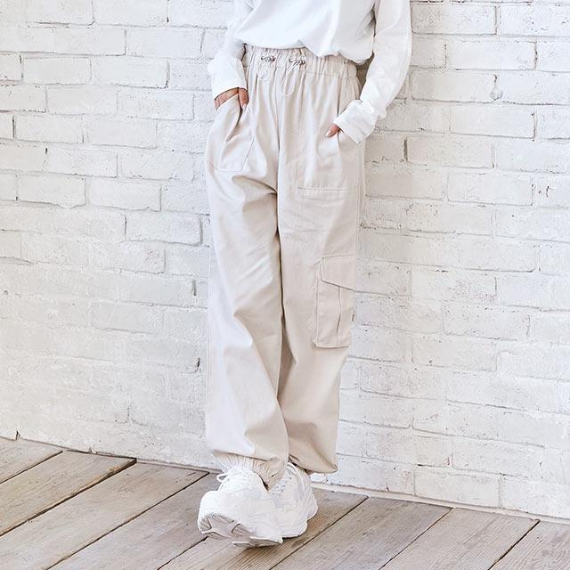 ≪村田倫子select≫ウエストドロストカーゴパンツ(全1色)[2650M]【11月上旬予約】