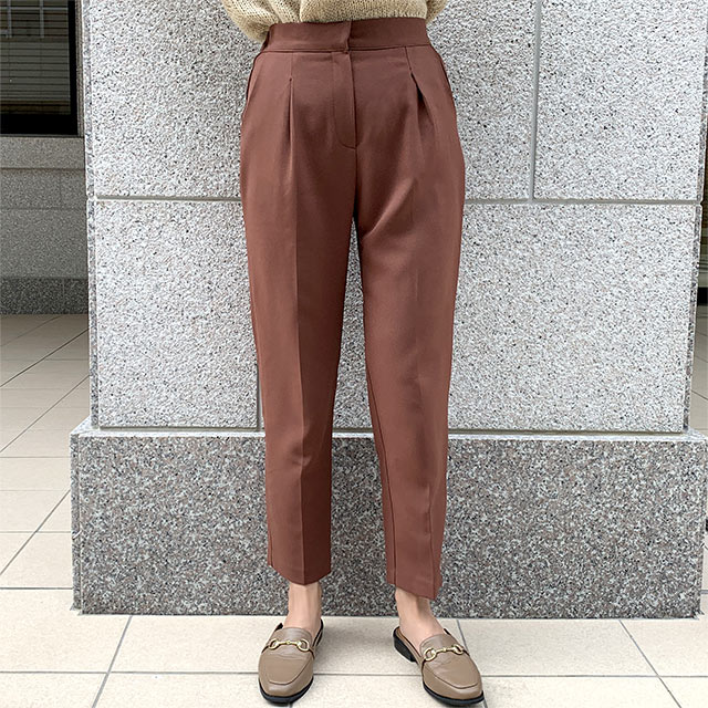 <CLEARANCE SALE>waist rubber tapered pants[2652M]