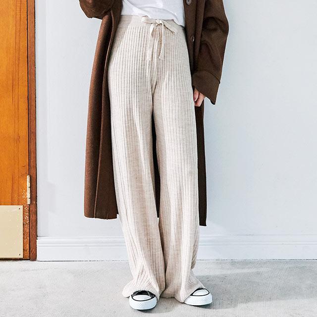 rib knit pants[2655M]