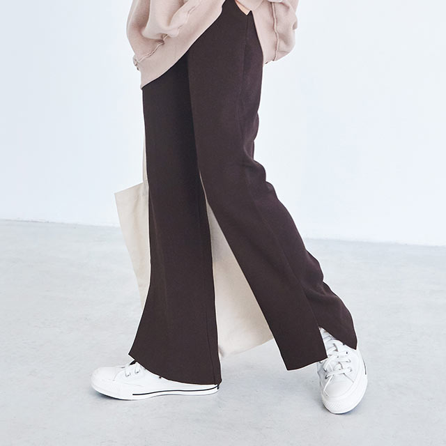 slit color pants[2738M]