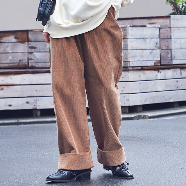 corduroy wide pants[2771M]
