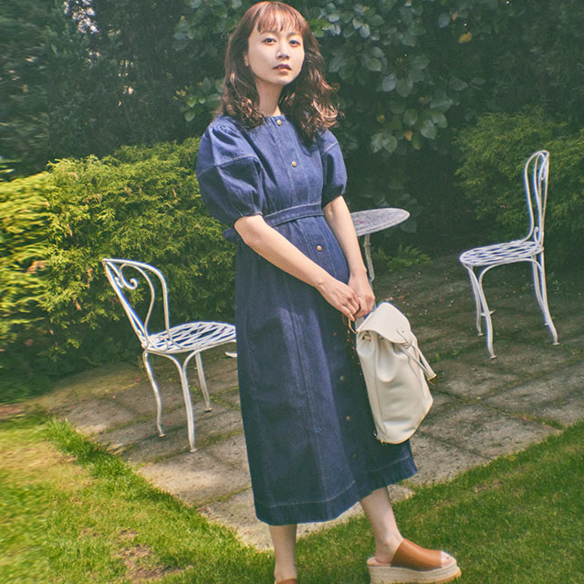 《CLEARANCE SALE!!》【三戸なつめ×Isn't She?】デニムワンピース[2817E]