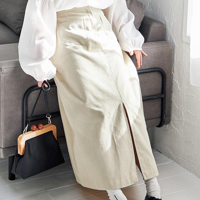 corduroy skirt[2825M]