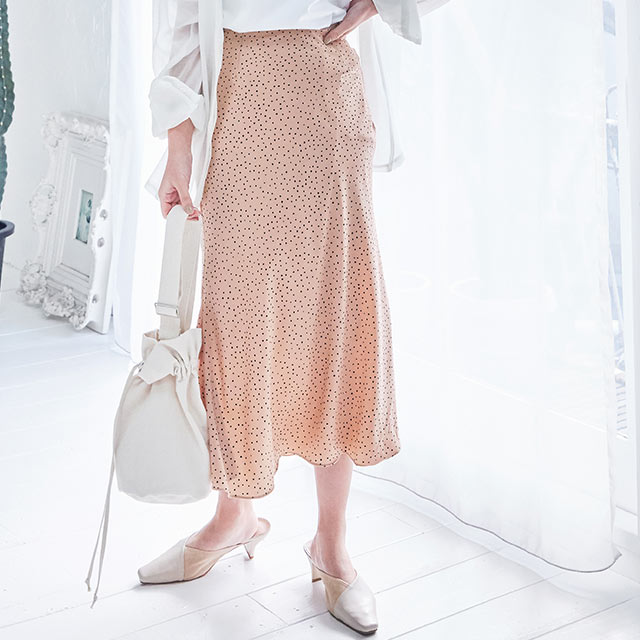 <Summer Sale!!>vintage like dot skirt[2857M]