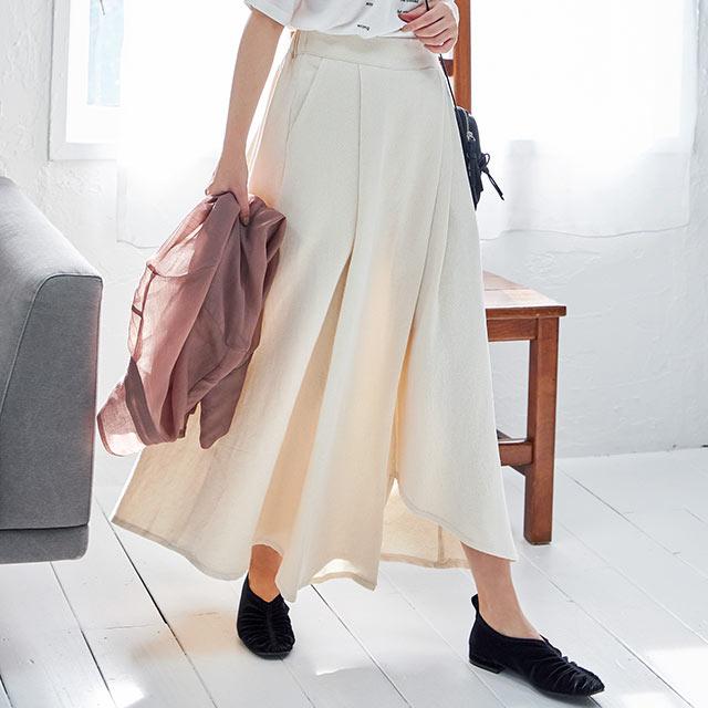 asymmetric flare skirt[2858M]
