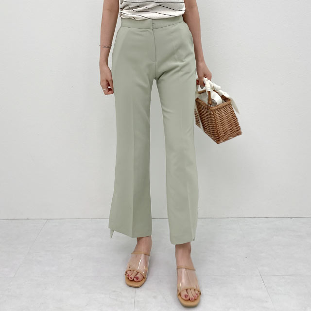 <bottom fair!!6/8(mon)am11:59まで>【6/7(sun)19:00〜】slit pastel color pants[2877M]