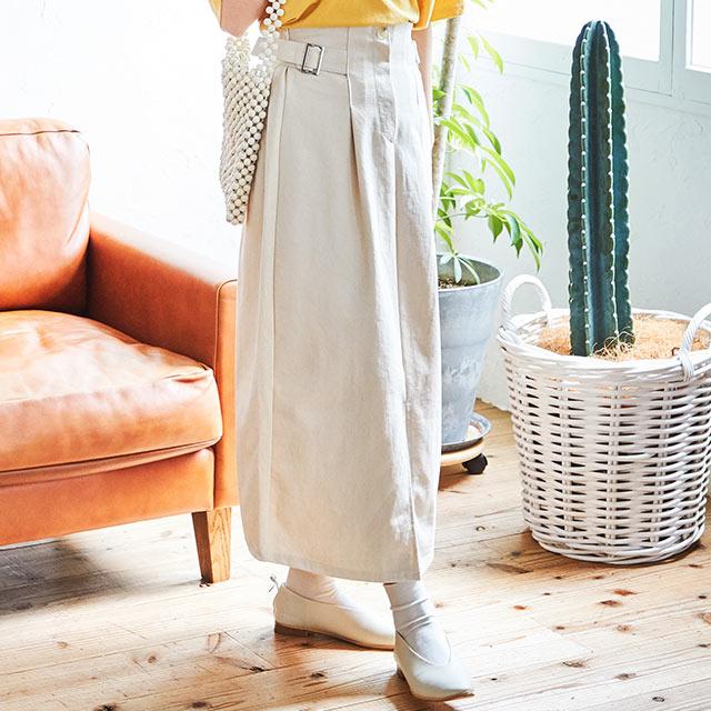 side belt skirt[2878M]