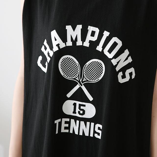 テニスノースリーブカットワンピース[2888E]