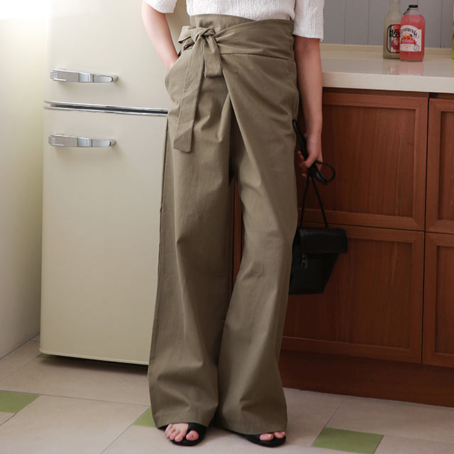 <bottom fair!!6/8(mon)am11:59まで>side belt high waist pants[2889M]