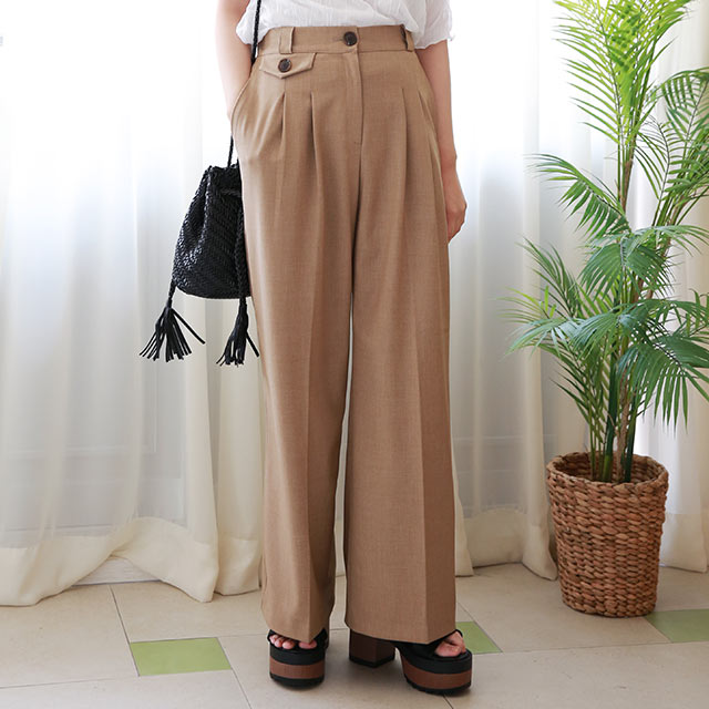 <bottom fair!!6/8(mon)am11:59まで>pocket point high waist pants[2899M]