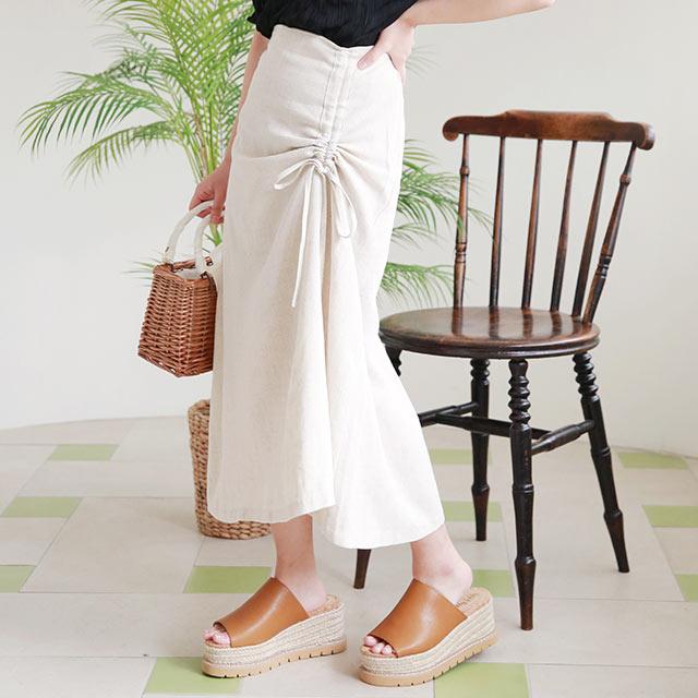 gather point skirt[2901M]