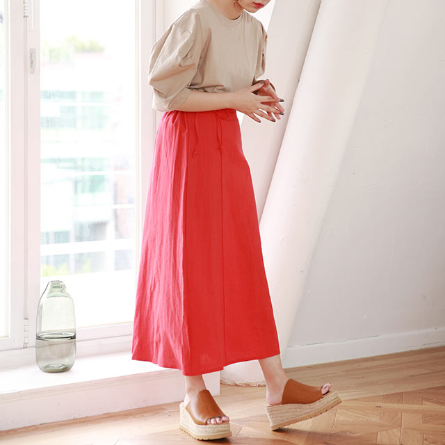 flared color skirt[2936M]