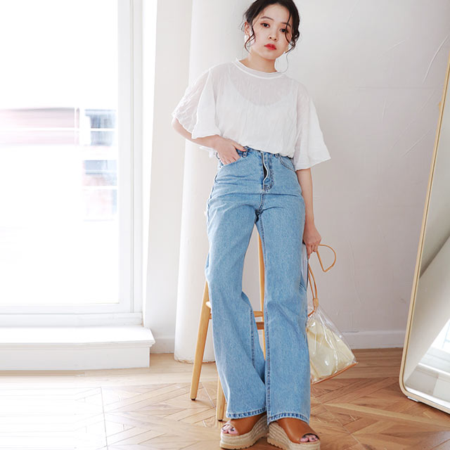 high waist wide denim2[2939M]