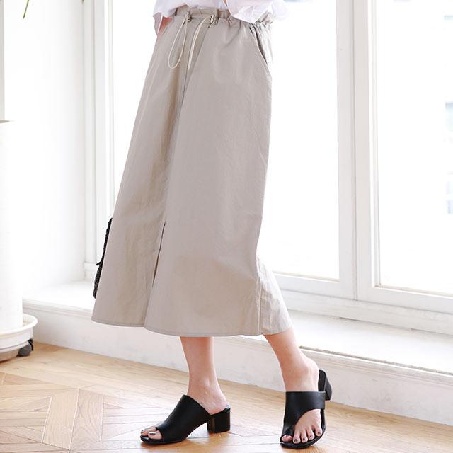 waist drawstring skirt[2943M]