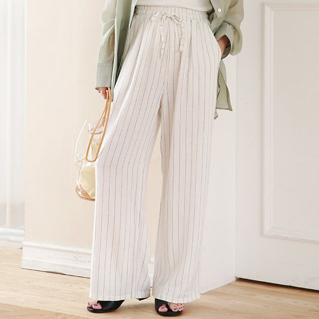 stripe pattern relax pants[2947M]