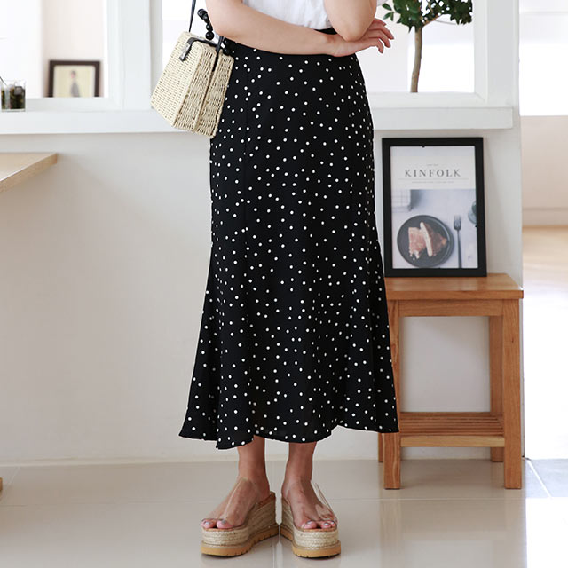 dot long skirt[2972M]