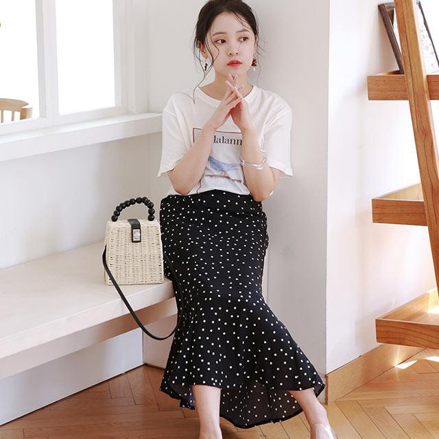 dot long skirt[2972M]