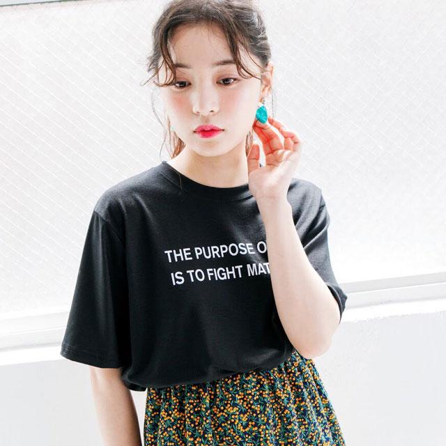 シンプルロゴTシャツ(全2色)[297C]