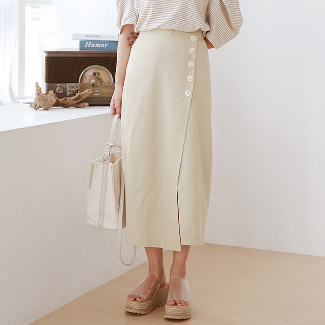 front button point skirt[3009M]