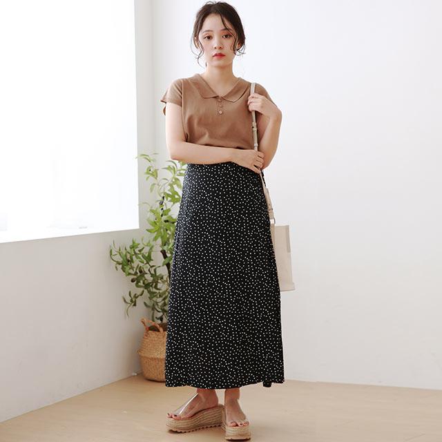 【8/13(thu)19:00〜】side ribbon dot skirt[3030M]