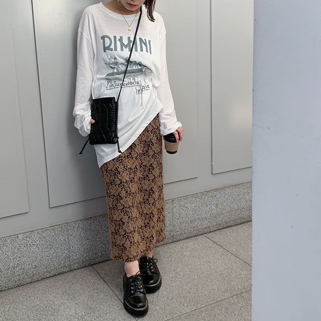 【9/16(wed)19:00〜】casual lace skirt[3066M]