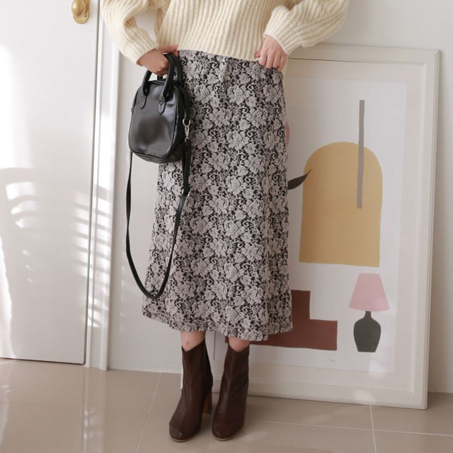 casual lace skirt[3066M]