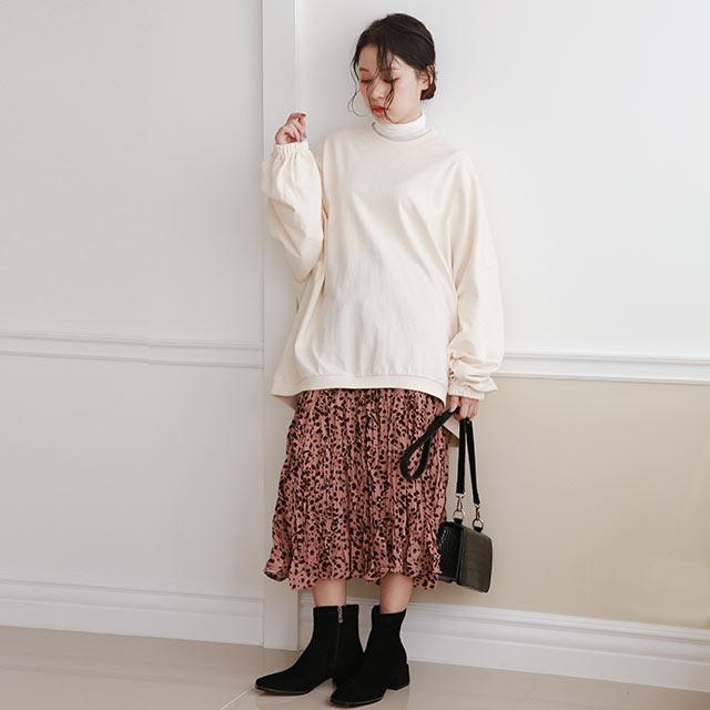 random dot gather skirt[3080M]