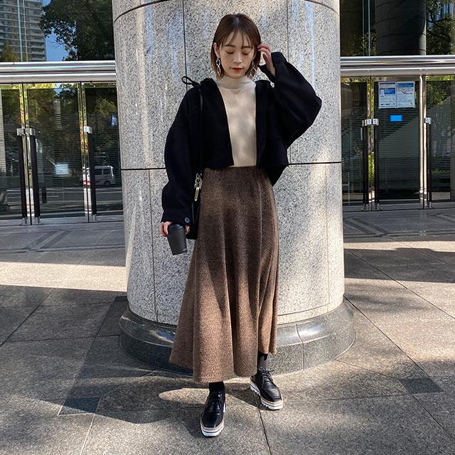 AWパターンフレアスカート[3155M]【steady.2月号掲載】