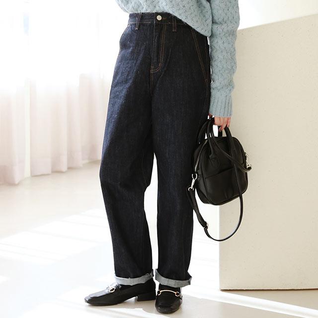 denim tapered pants[3165M]