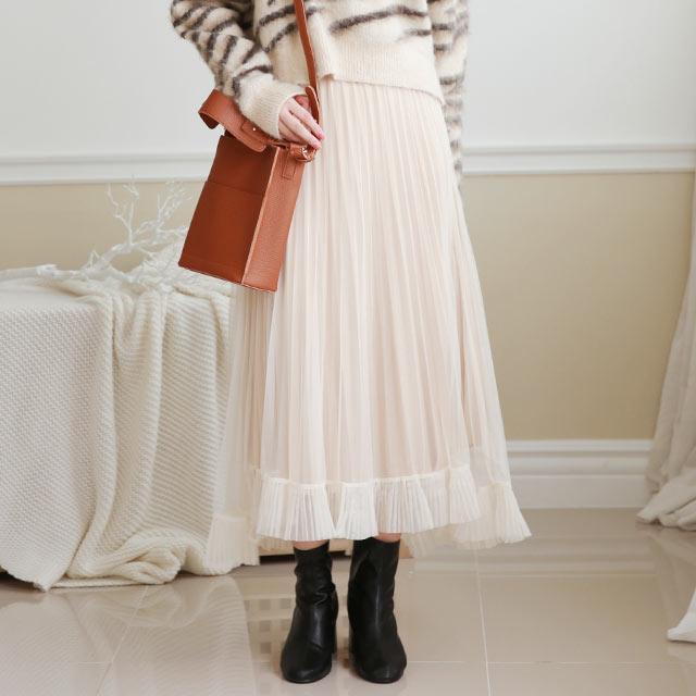 tulle frill skirt[3189M]