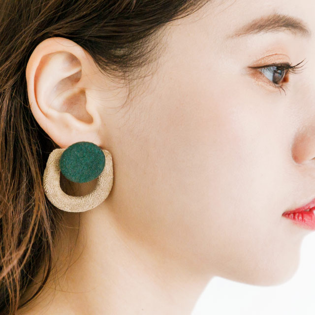 bicolor earrings[321J]