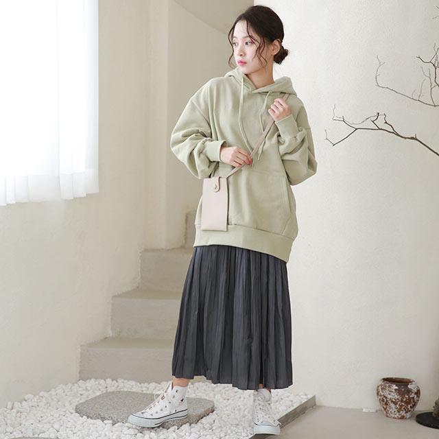 shiny flare skirt[3225M]
