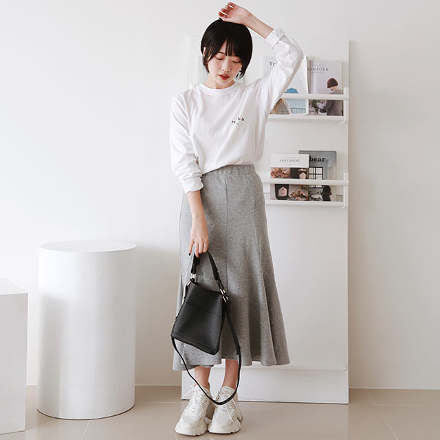 cut-saw mermaid skirt[3256M]