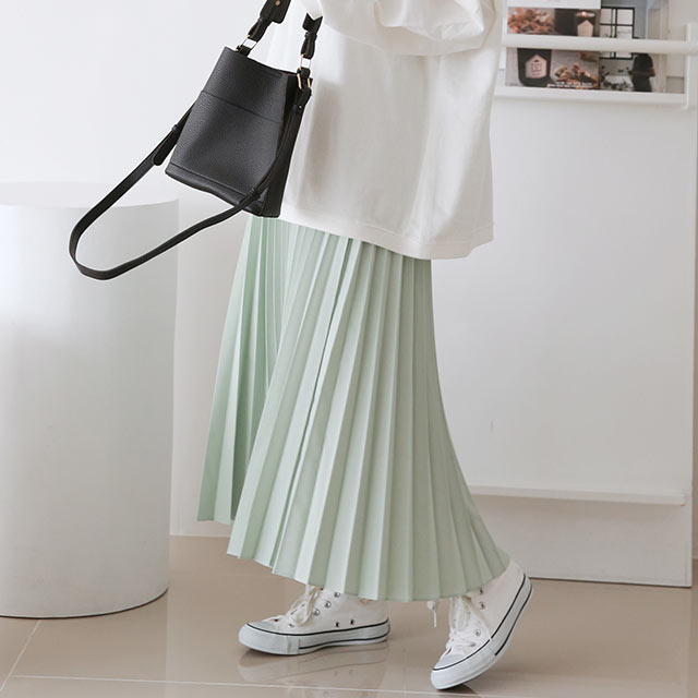 【3/2(tue)19:00〜】pastel color pleated skirt[3257M]