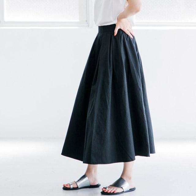 チノ素材フレアミディスカート(全2色)[328M]