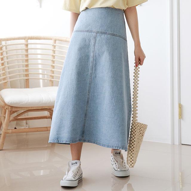【5/18(tue)19:00〜】デニム切替スカート[3316M]