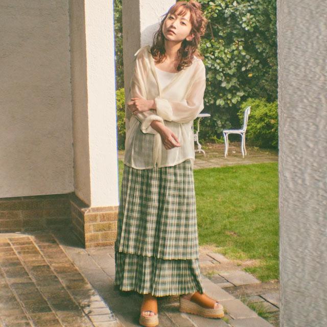 【8/4(wed)19:00〜】【三戸なつめ×Isn't She?】プリーツスカート[3329M]