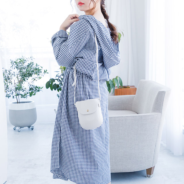**rinko select**check hoody dress[337E]