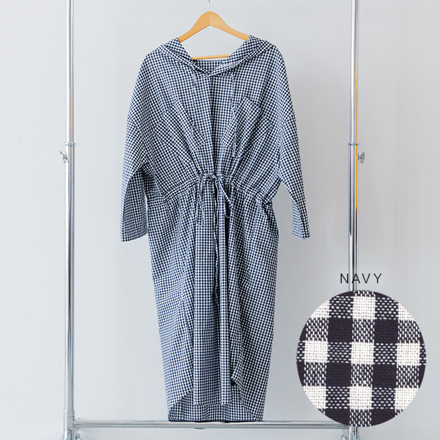 **rinko select**check hoody dress[337E]