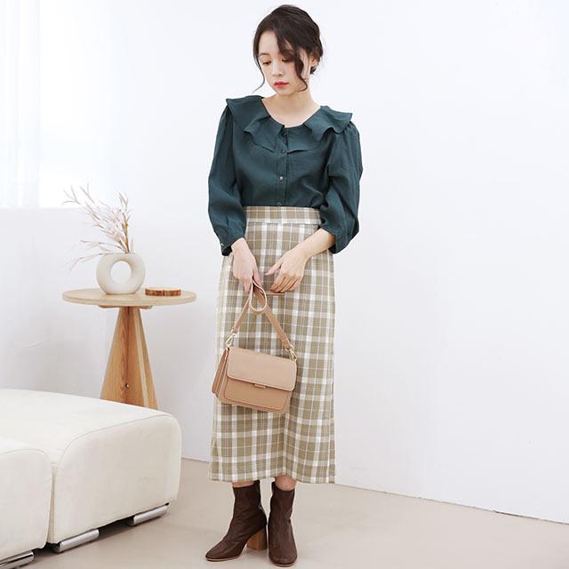 【11/3(wed)19:00〜】チェックナロースカート[3462M]